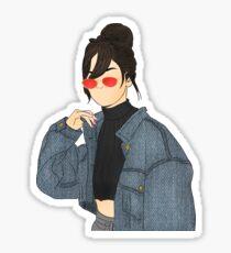 Selena Gomez Drawing Sticker