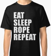 Eat Sleep Rope Repeat Sport Shirt Funny Cute Gift For Rodeo Lover Player Classic T-Shirt