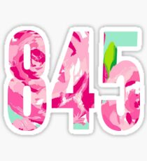 Lilly Inspired Area Code - 845 Sticker