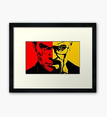 Breaking Bad Dexter Poster, Cover ecc.. Framed Print