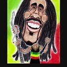 Reggae Rasta Jamaican Karikaturzeichnung von MMPhotographyUK