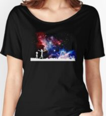 rick's galaxy funny cartoon crazy cosmos space galaxy new show stars  Women's Relaxed Fit T-Shirt