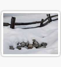 Snow Fence Sticker