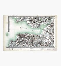 Vintage Map Bristol Channel England and Wales Photographic Print