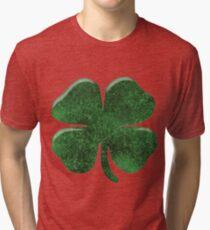 Deluxe Four Leaf Clover T-shirt Tri-blend T-Shirt
