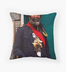 Happy people smiling Throw Pillow