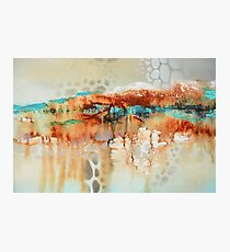 Abstract Art with blue and orange  Photographic Print