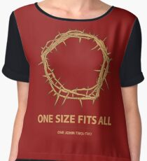 One Size Fits All Chiffon Top