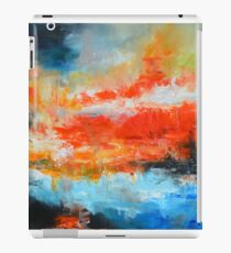 Red blue  abstract landscape  iPad Case/Skin