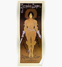 Vintage Joan Of Arc store ad vertical banner Poster