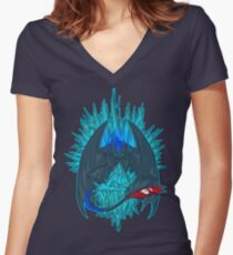 Game of Dragons - HTTYD2/GoT (NO Text) Women's Fitted V-Neck T-Shirt