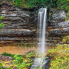 Autumn at Munising Falls by Kenneth Keifer