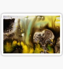 Gold Black Abstract Print  Sticker