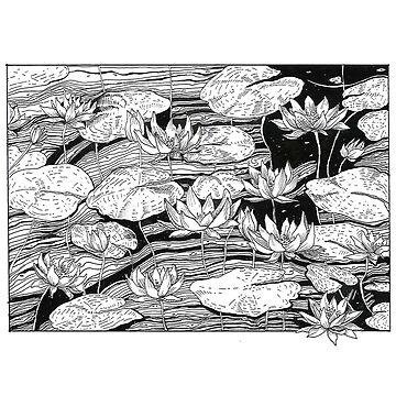 Water Lilies Sleepy Pond by ofmooseandmen