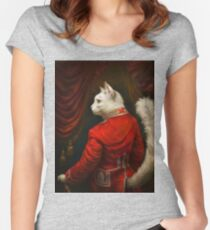 The Hermitage Court Chamber Herald Cat Edited version Women's Fitted Scoop T-Shirt