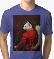 The Hermitage Court Chamber Herald Cat Edited version Tri-blend T-Shirt