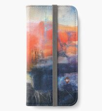 Blue Red Abstract  iPhone Wallet/Case/Skin