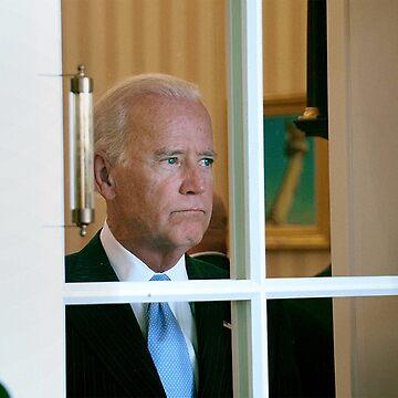 Joe Biden Staring Out Window by jessguida