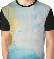 Orange Blue Abstract Print  Graphic T-Shirt