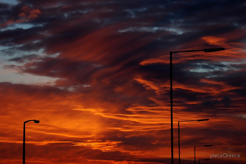 sky on fire by piece0reece