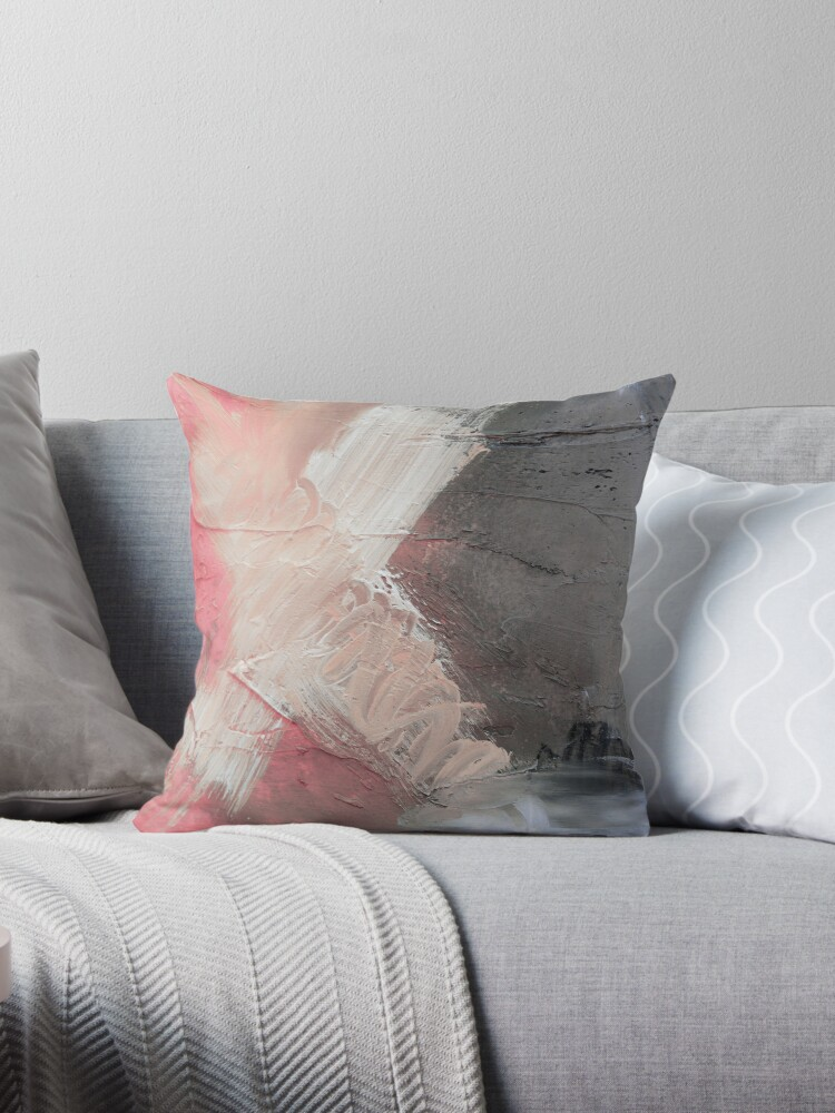 starting pointpink blue abstract gicleepink grey giclee white gicleepink grey printpink wall art throw pillows