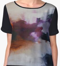 Lavender Field, purple abstract print from original painting  Women's Chiffon Top