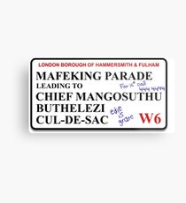 Bottom Mafeking Parade, Cul-De-Sac Street Sign Metal Print