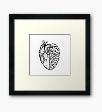 Heart and Brain Framed Print