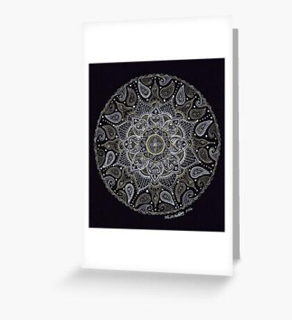 Rich Paisley Mandala Greeting Card