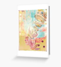 Figment - Manual and digital collage Greeting Card