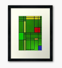 Composition over cool green Framed Print