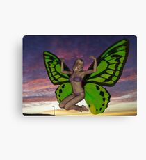 Butterfly Woman Canvas Print