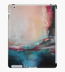 Pink and beige abstract landscape iPad Case/Skin