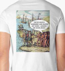 Columbus Arrives in the Americas - Anti Trump Men's V-Neck T-Shirt