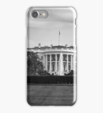 Black and white The White House iPhone Case/Skin