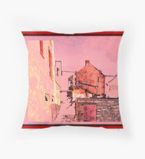 Back of  Pipes Throw Pillow