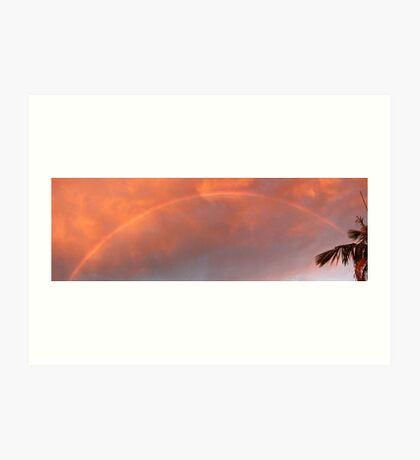 Sunset Storm Rainbow Art Print