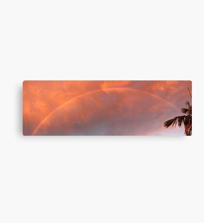 Sunset Storm Rainbow Canvas Print