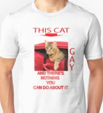 This Cat Is Gay Unisex T-Shirt