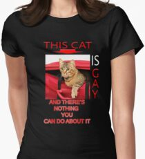 This Cat Is Gay Womens Fitted T-Shirt