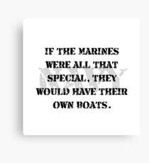 Navy Marines Boats Canvas Print
