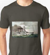 Vintage SMS Zähringen German Imperial Warship T-Shirt