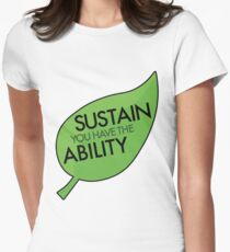 Sustainability Women's Fitted T-Shirt