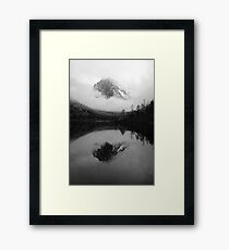 Black and White Sichuan Mountains Framed Print