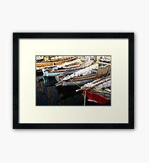 Wooden Boat Reflections #3 Framed Print