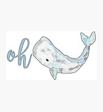 Oh Whale! Photographic Print