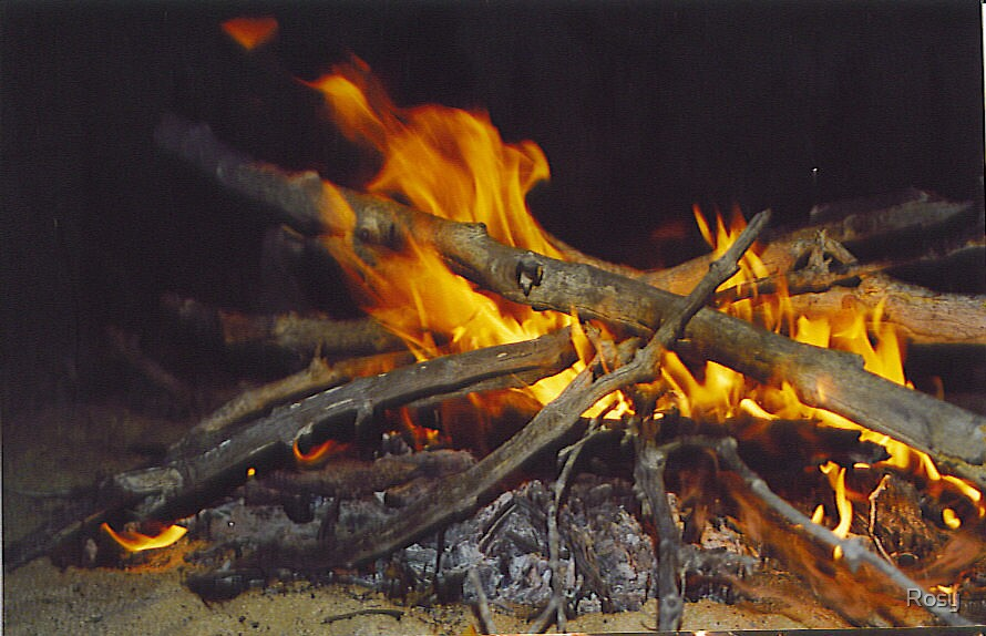 camp fire by Rosy