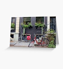 Along the canal, Amsterdam Greeting Card