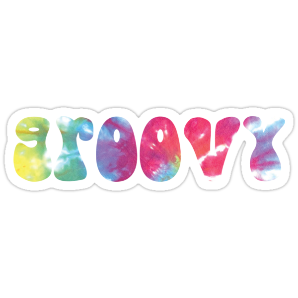 Quot Groovy Quot Stickers By Ashleyboehmer Redbubble