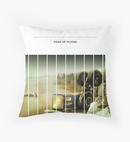 Fear Of Flying Throw Pillow